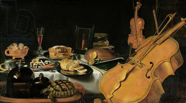 Still Life with Musical Instruments, 1623 (oil on canvas)