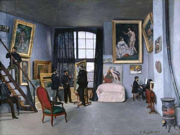 Bazille's Studio, 1870 (oil on canvas)