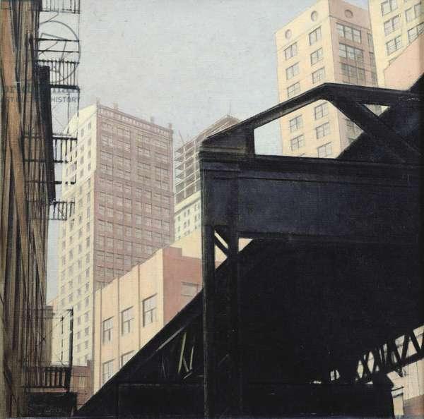 New York (oil on canvas)