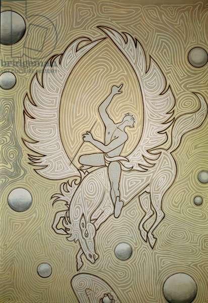 Bellerophon Riding Pegasus, 1957 (fresco)