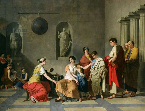 The Mother of the Gracchi, c.1780 (oil on canvas)