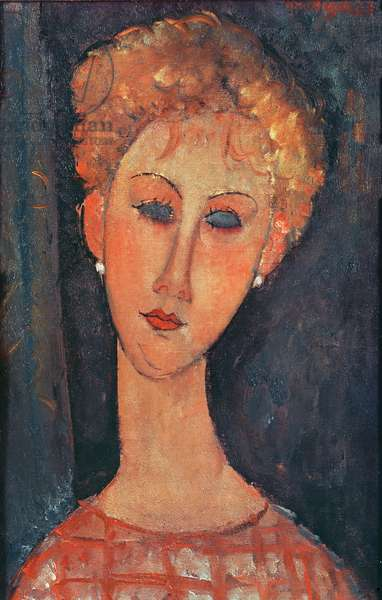 Young Girl with Earrings (oil on canvas)