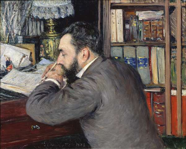 Portrait of Henri Cordier (1849-1929), teacher at the School of Oriental Languages, 1883 (oil on canvas)