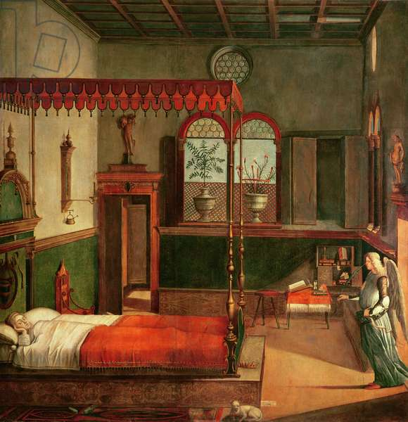 Dream of St.Ursula, 1495 (tempera on canvas) (see 156167 for detail)