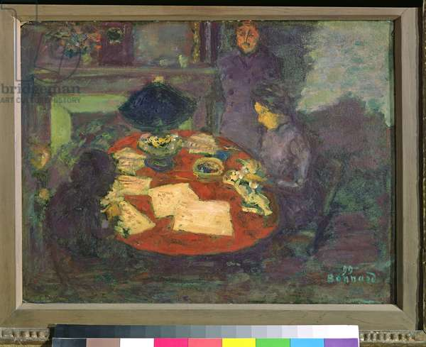 Under the Lamp, 1899 (oil on cardboard)
