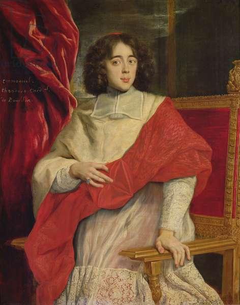 Emmanuel-Theodose de la Tour d'Auvergne (1643-1715) Cardinal de Bouillon, 1669 (oil on canvas)