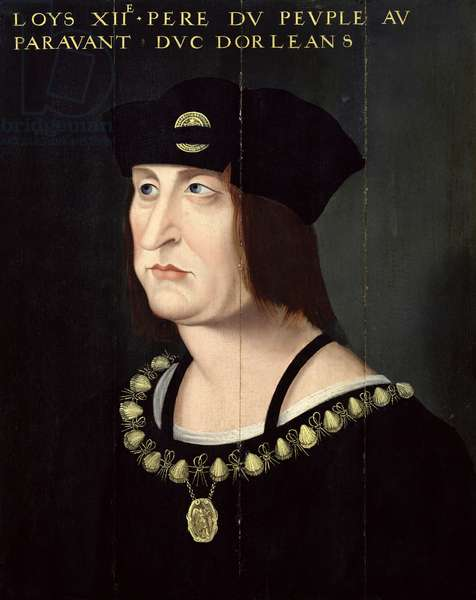 Portrait of Louis XII (1462-1515) King of France (oil on canvas)