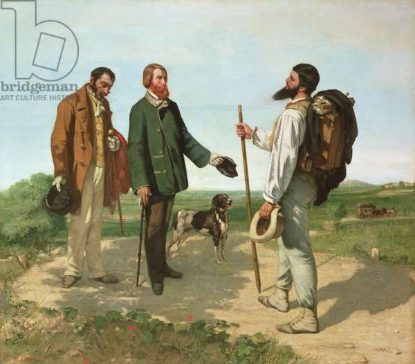 La Rencontre, or Bonjour Monsieur Courbet, 1854 (oil on canvas)