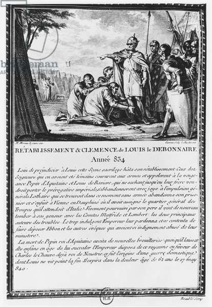 Louis I, the Pious or the Debonaire (engraving)