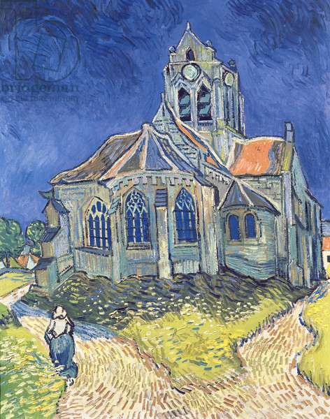 The Church at Auvers-sur-Oise, 1890 (oil on canvas)