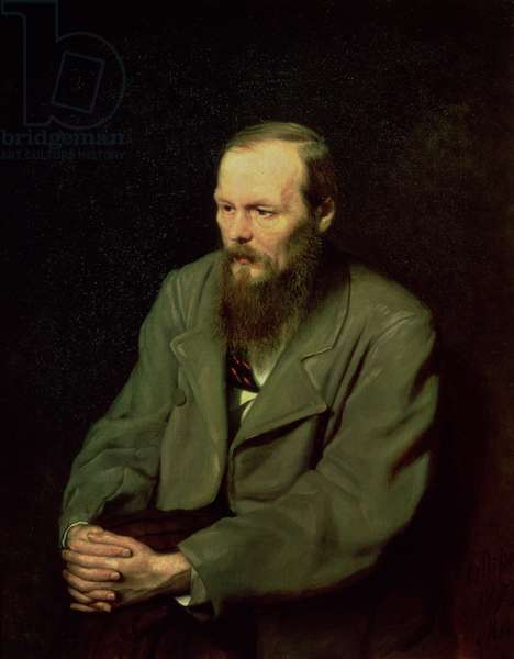 Portrait of Fyodor Dostoyevsky (1821-81) 1872 (oil on canvas)