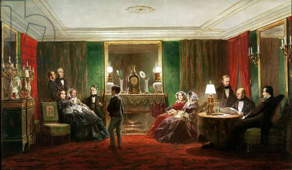 Interior of a Salon on Rue de Gramont, 1858 (oil on canvas)
