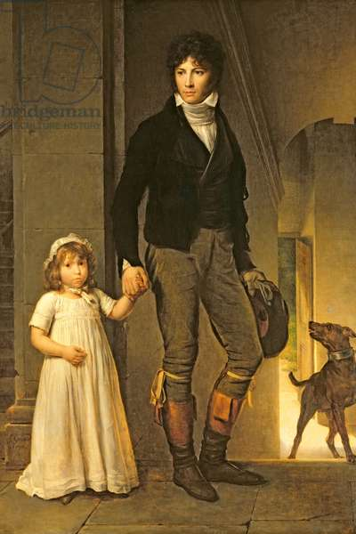 Jean-Baptiste Isabey (1767-1855) and his Daughter, Alexandrine (1791-1871) , 1795 (oil on canvas)