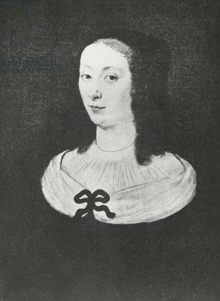 Portrait of Gilberte Perier (litho)