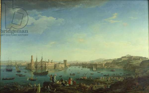 The Entrance to the Port of Marseilles, 1754 (oil on canvas)