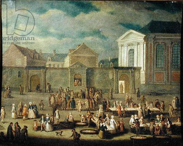 The Fish Market at Cambrai, 1778 (oil on canvas)