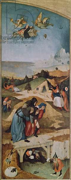 Left wing of the Triptych of the Temptation of St. Anthony (oil on panel) (see 159327)