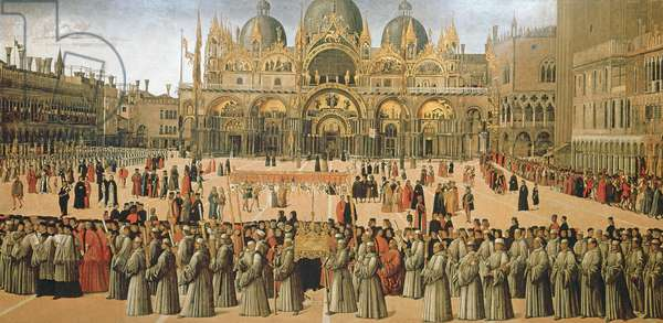 Procession in St. Mark's Square, 1496 (oil on canvas) (for details see 53910 and 60908)