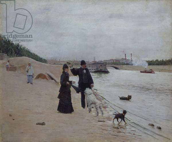 The Banks of the Seine, c.1880 (oil on canvas)