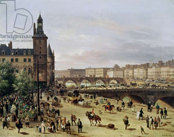 The Flower Market, 1832 (oil on canvas)