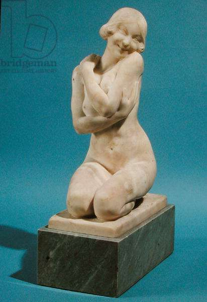 Young Woman Kneeling (marble)