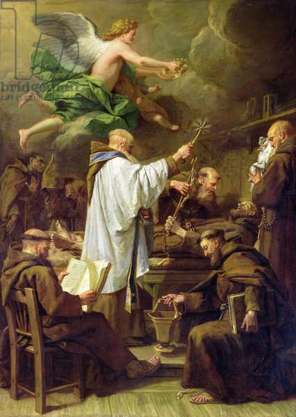 The Death of St. Francis, c.1713 (oil on canvas)