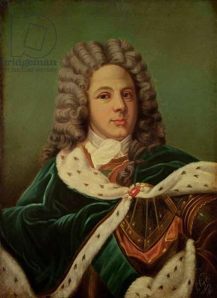 Portrait of the Duc de Saint-Simon (1675-1755) after a portrait by Hyacinthe Rigaud (1659-1743) 1887 (oil on canvas)