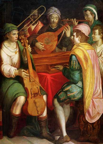 A Concert, late 16th century (oil on canvas)