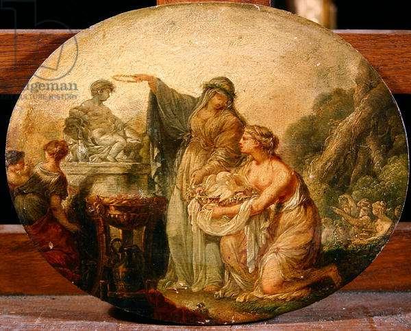 Sacrifice to Cupid (oil on panel)