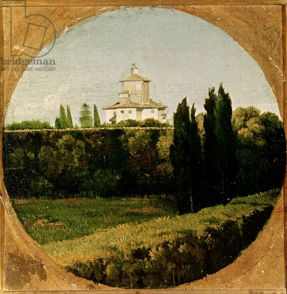 View of the Villa Medici, Rome (oil on canvas)