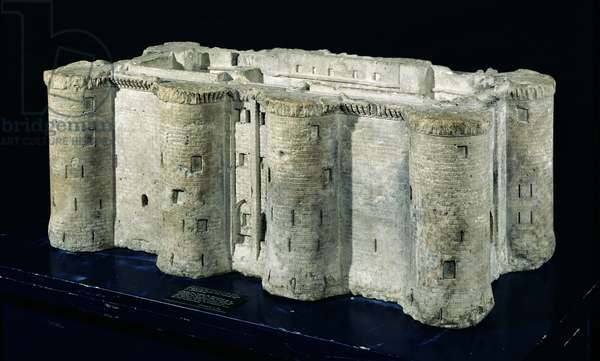 Model of the Bastille made from one of the stones of the Bastille, 1789 (stone)
