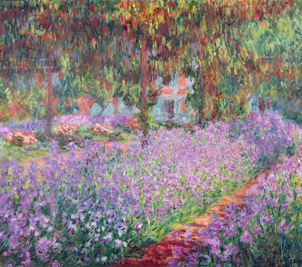 The Artist's Garden at Giverny, 1900 (oil on canvas)