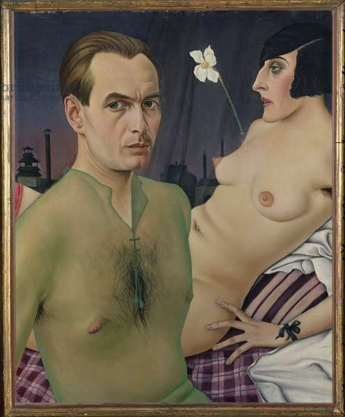 Self Portrait with Model, 1927 (oil on canvas)