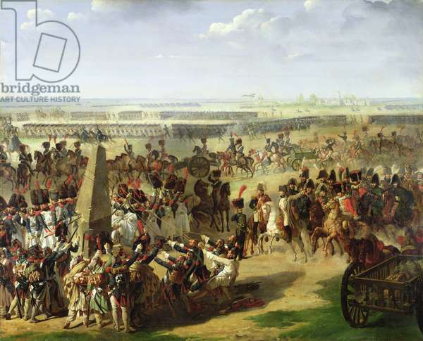 The French Army Pulling Down the Rosbach Column, 18th October 1806, 1810 (oil on canvas)