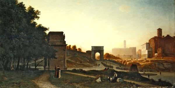 The Forum at sunset, 1865 (oil on canvas)