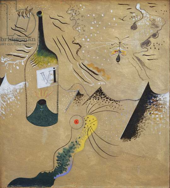 The Bottle of Wine, 1924 (oil on canvas)