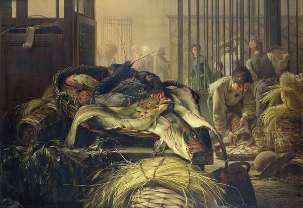 The Fish Market (oil on canvas)