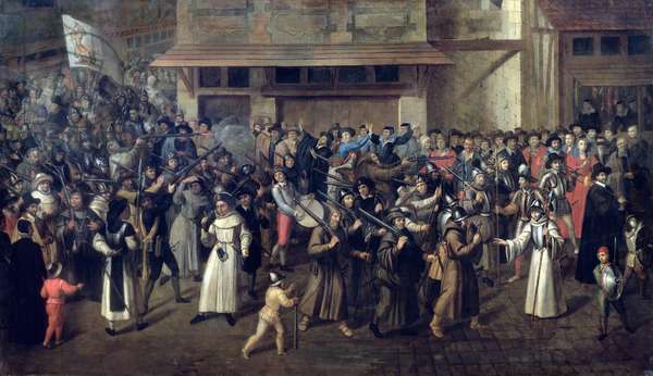 Procession of the Holy League, c.1590-93 (oil on canvas)