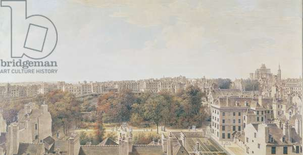 View of Paris from the Belvedere of M. Fornelle, rue des Boulangers, 1787 (pen, brown ink, w/c and gouache on paper)