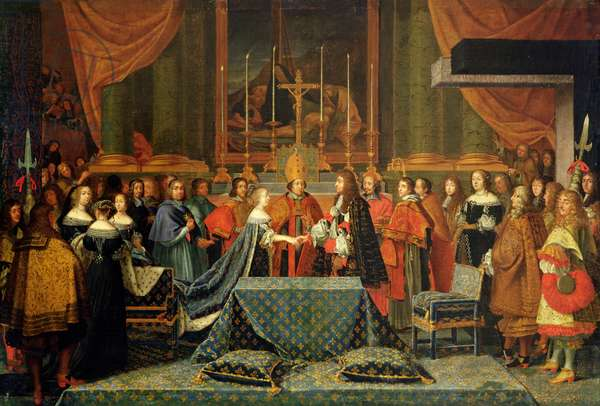 Celebration of the Marriage of Louis XIV and Maria Theresa of Austria, 9th June 1660 (oil on canvas)