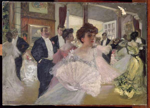 Corner of the Ball, 1905 (oil on canvas)