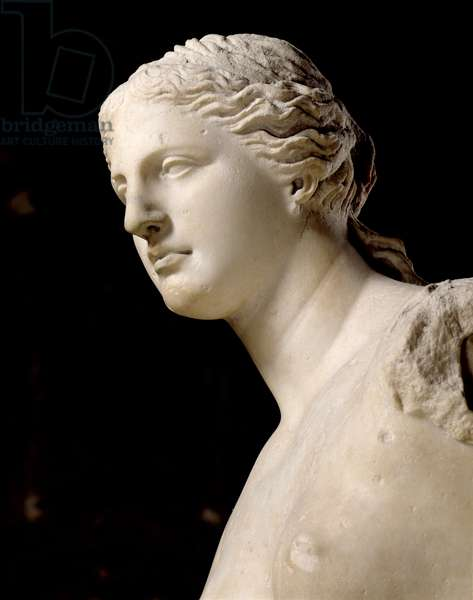 Venus de Milo, detail of the head, Hellenistic period, c.100 BC (marble)