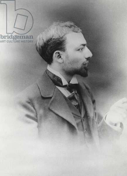 Portrait of Fernand Gregh (b/w photo)