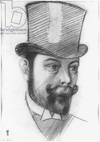 Andre Mellerio, 1899 (chalk) (b/w photo)