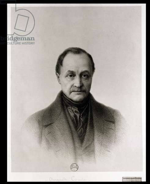 Portrait of Auguste Comte (1798-1857), French philosopher (litho)