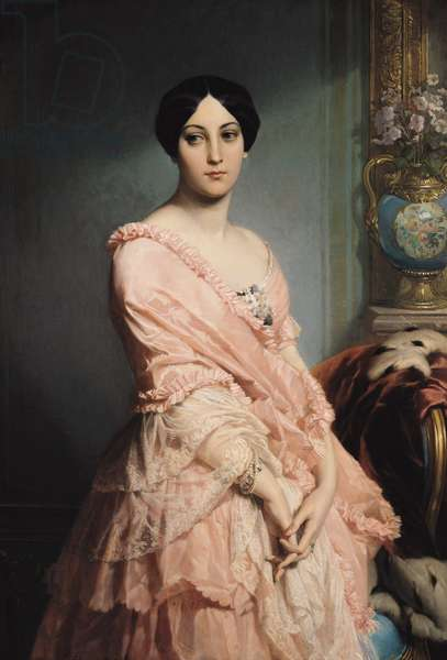 Portrait of Madame F, 1850-51 (oil on canvas)
