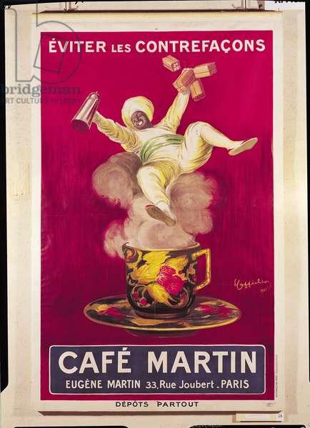 Poster advertising 'Cafe Martin', 1921 (litho)