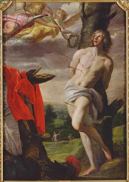 The Martyrdom of St. Sebastian, 1624 (oil on canvas)