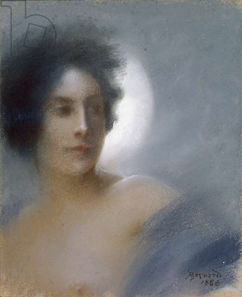 Woman with a Crescent Moon or, The Eclipse, 1888 (pastel on paper)