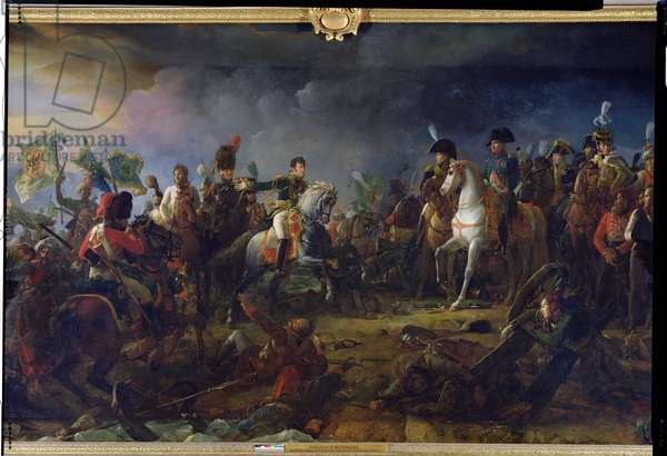The Battle of Austerlitz,  2nd December 1805, detail of General Rapp (1772-1821) Governor of Dantzig presenting the defeated Prince Repnin to Napoleon Bonaparte (1769-1821) 1805 (oil on canvas)
